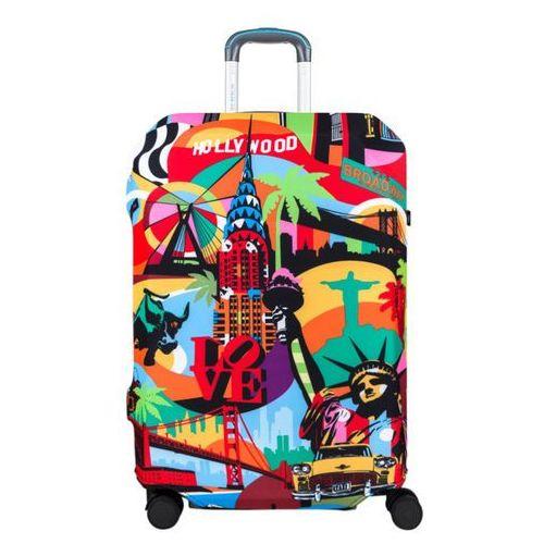 pokrowiec na dużą walizkę / rozmiar l / american way - american way marki Bg berlin