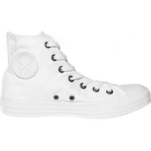 Converse Unisex Chuck Taylor All Star Canvas Hi-Top Trainers - White Monochrome - UK 10