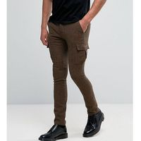 Heart & Dagger Super Skinny Trouser With Cargo Pockets - Brown