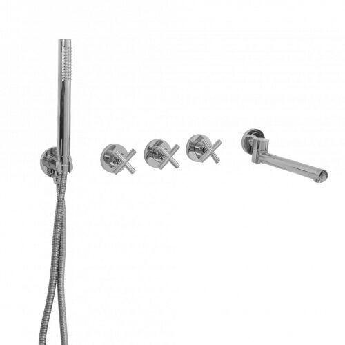 Rea Zestaw wannowo prysznicowy srebrny exit chrom (5902557341993)