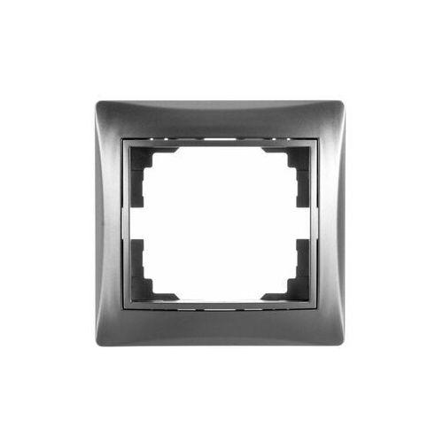 KANLUX DOMO 01-1460-043 srebrny Ramka pojedyńcza pozioma 24880, 24880