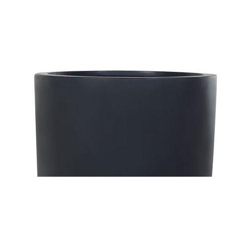 Doniczka czarna - ogrodowa - balkonowa - ozdobna - 47x47x100 cm - onega marki Beliani
