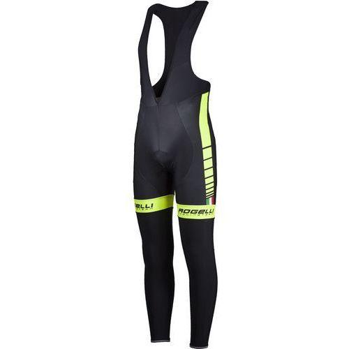 Rogelli  umbria - męskie spodnie rowerowe z wkładką żelową (czarno-żółty)