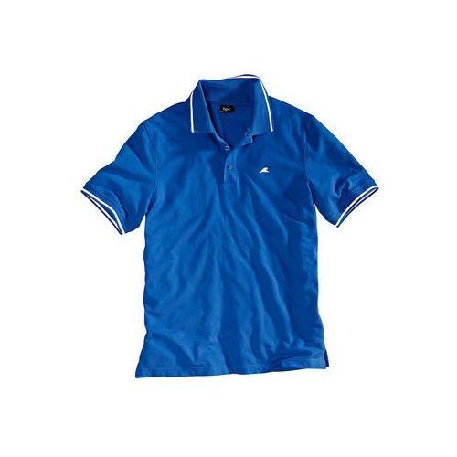 Shirt polo Regular Fit bonprix lazurowy niebieski, kolor niebieski