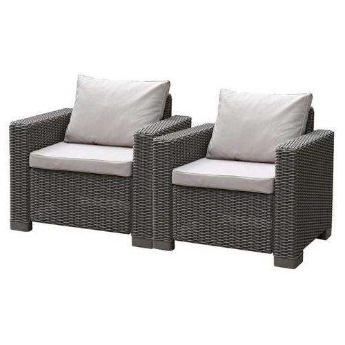 Allibert Krzesło ogrodowe California, 2 szt., cappuccino, 231560 (8711245143521)