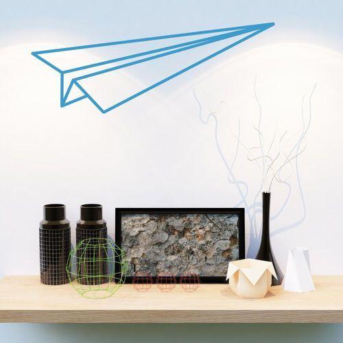 Wally - piękno dekoracji Naklejka na ścianę samolocik origami 2473
