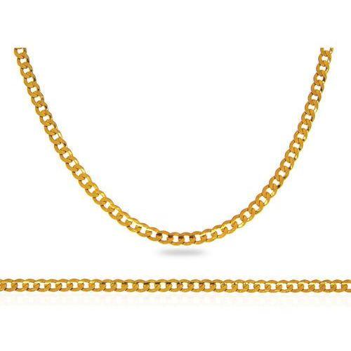 Łańcuch złoty pancerka, kolor żółty