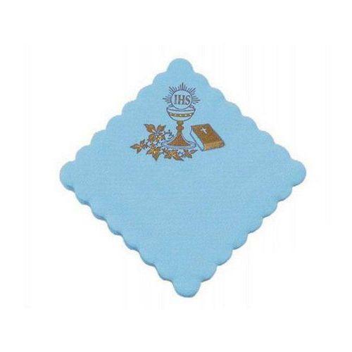 Serwetki 1-warst. 15 x 15 komunia, błękitne, 100 szt (5907509903953)