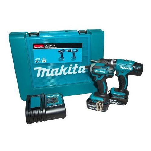 Zestaw elektronarzędzi combo dlx2142s 18 v marki Makita
