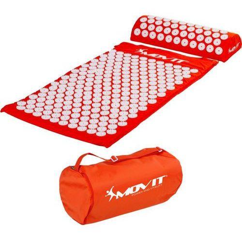 Movit ® Pomarańczowa mata zdrowotna do akupresury z kolcami na ból pleców - pomarańczowy