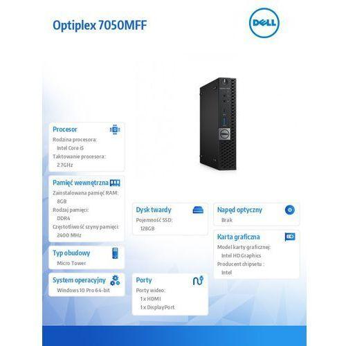 Optiplex 7050mff win10pro i5-7500t/128gb ssd/8gb/hd630/ms116/kb216/3y nbd marki Dell