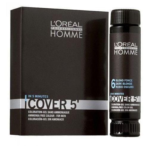 Loreal Homme Cover 5` Żel do koloryzacji 3x50ml NO5, kolor Loreal