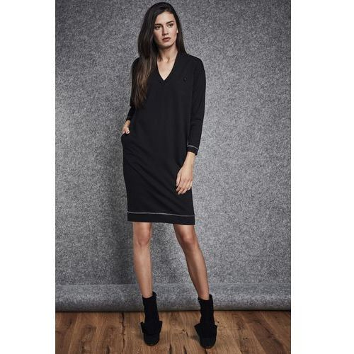 Czarna sukienka - Ennywear, kolor czarny