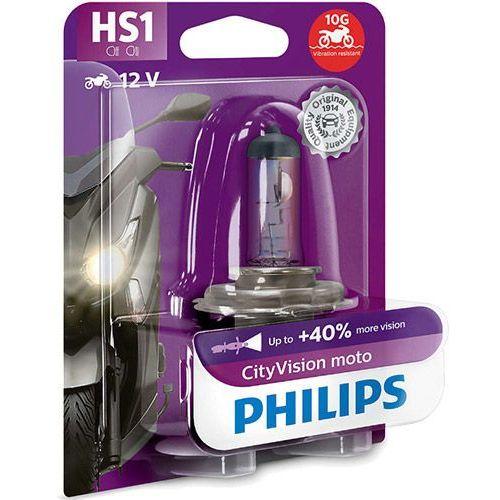 Philips® Żarówka motocyklowa hs1 cityvision moto | 12v 35w px43t | blister 1 szt.