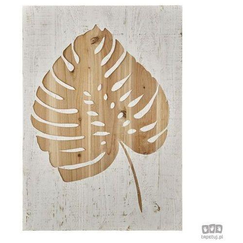 Graham&brown Drewniana dekoracja ścienna liść monstery dziurawej 103412