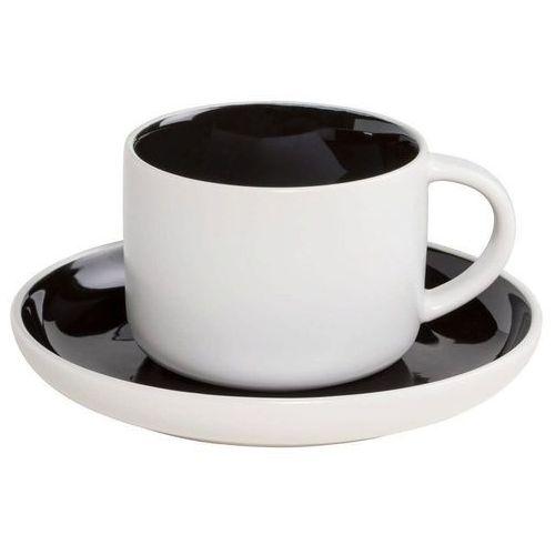 Maxwell & williams - tint - filiżanka do kawy, biało-czarna - czarny (9315121753980)