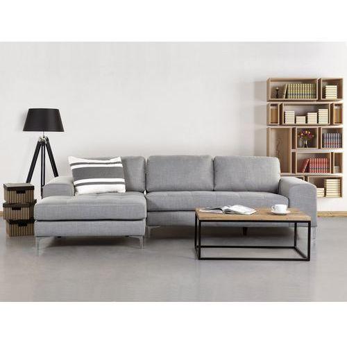 OKAZJA - Sofa jasnoszara - sofa narożna - tapicerowana - KIRUNA - produkt z kategorii- Narożniki
