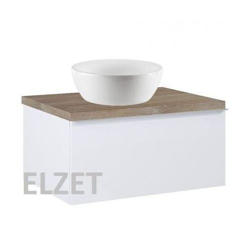 Elita szafka look 1s white matt pod umywalkę nablatową + blat 60 dąb classic 167590+166897