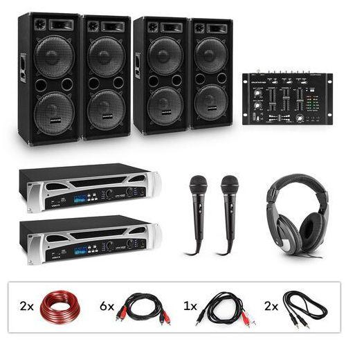 OKAZJA - Electronic-star estar, bass-party, zestaw dj, 2xwzmacniacz pa, mikser dj, 4xsubwoofer, słuchawki (4060656392139)