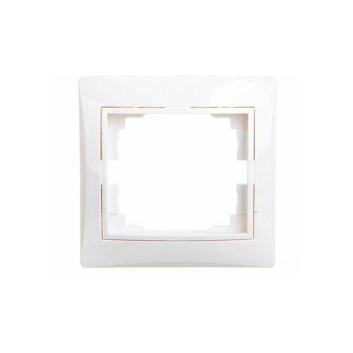 Kanlux domo 01-1460-002 biały ramka pojedyńcza pozioma 24762 (5905339247629)