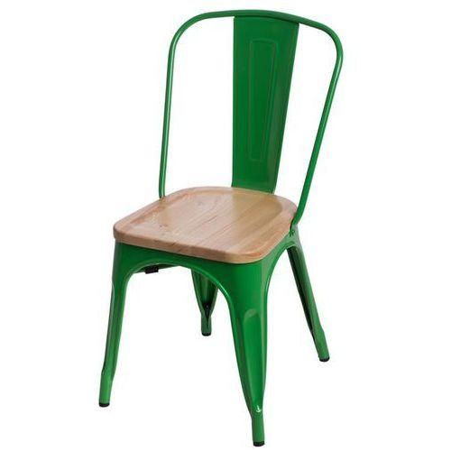 Krzesło Paris Wood jesion - zielony (5902385709224)