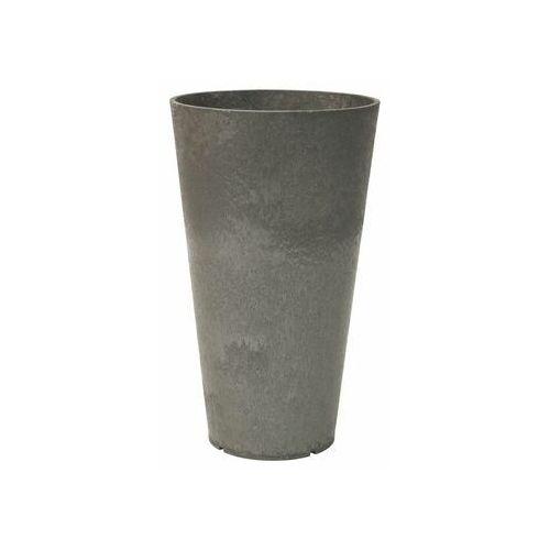 Donica ogrodowa 32 cm CONCERTO szara gumowa (5907736265312)