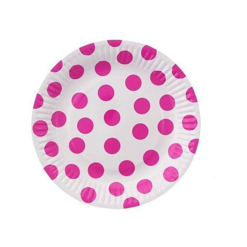 Talerzyki papierowe małe grochy różowe marki Godan