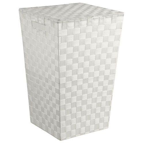 5five simple smart Pojemnik na pranie w kolorze białym, kosz na pranie biały, kosz na pranie materiałowy, kosz łazienkowy, pojemnik na bieliznę (3560238545638)