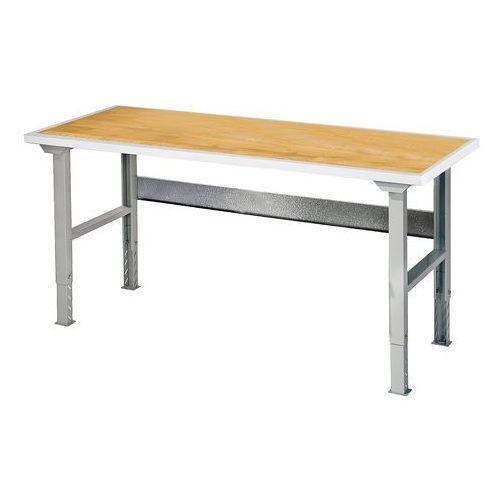 Stół roboczy SOLID, 500 kg, 1500x800 mm, dąb