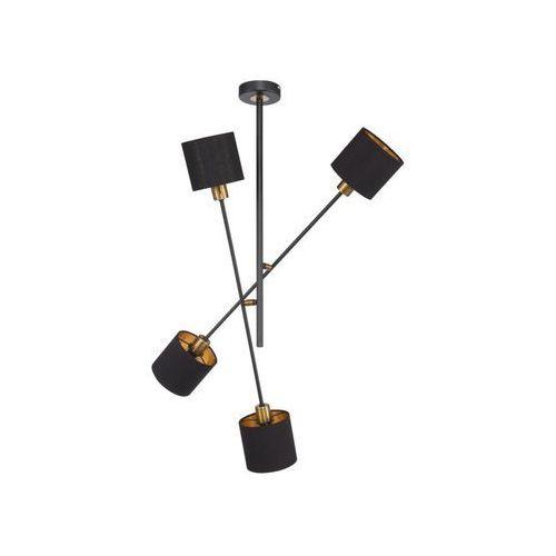 Lampa wisząca orion czarna 4 x e14 marki Wofi