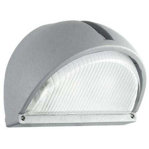 Eglo Kinkiet lampa elewacyjna onja 89769 zewnętrzna oprawa ścienna do ogrodu ip44 outdoor szkło prążkowane srebrna