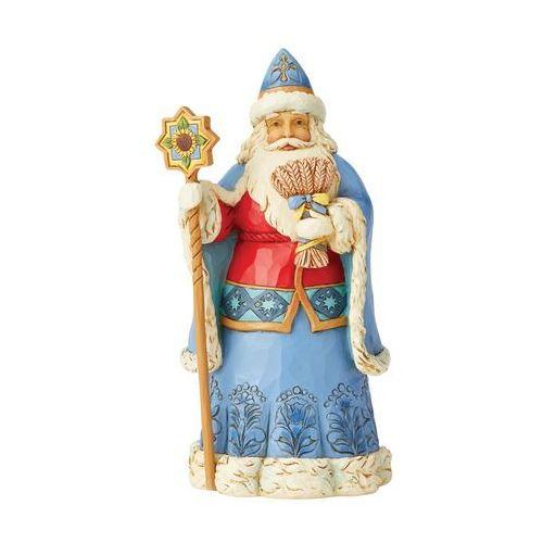 Mikołaj figurka Ukraińskie życzenia bożonarodzeniowe Ukrainian Christmas Wishes (Ukrainian Santa Figurine) 6004236 Jim Shore figurka ozdoba świąteczna