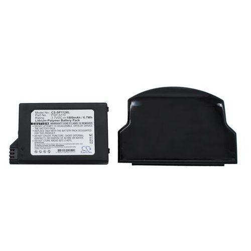Sony PSP-S110 1800mAh 6.66Wh Li-Polymer 3.7V powiększony czarny (Cameron Sino), CS-SP112XL