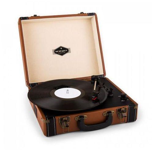 jerry lee gramofon w stylu retro lp usb brązowy marki Auna
