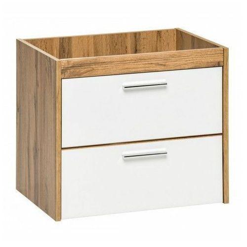 Wisząca szafka łazienkowa pod umywalkę - Madryt 3X Biały, kolor biały