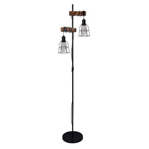 Italux Ponte FL-4290-2 lampa stojąca podłogowa 2x60W E27 czarna matowa