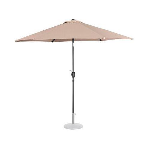 Uniprodo Parasol ogrodowy - Ø270 cm - kremowy UNI_UMBRELLA_R270CR - 3 LATA GWARANCJI