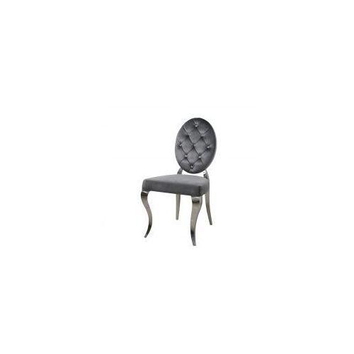 Krzesło glamour leonardo dark grey - nowoczesne krzesła pikowane guzikami marki Bellacasa
