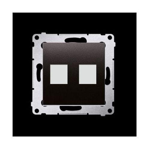 Pokrywa gniazd teleinformatycznych na Keystone płaska podwójna (moduł); antracyt