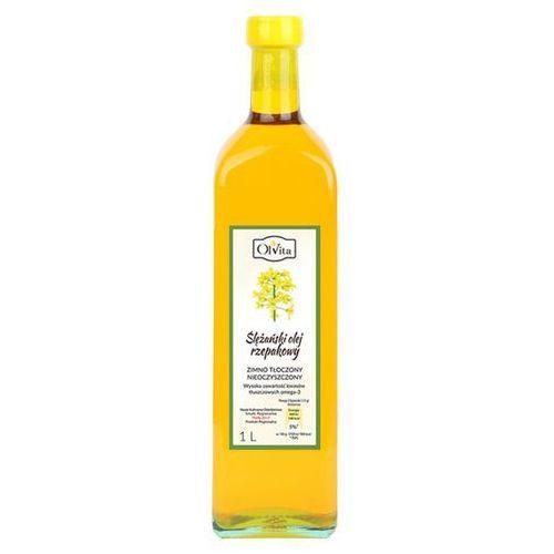 Olej rzepakowy tłoczony na zimno nieoczyszczony 1l marki Olvita
