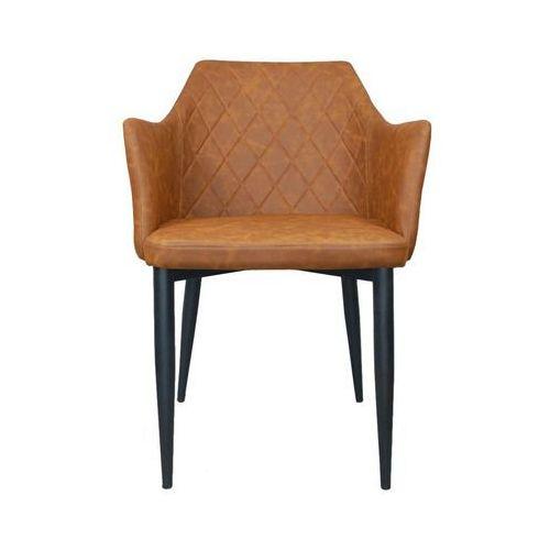 Krzesło emma vintage pu brandy ekoskóra marki D2.design