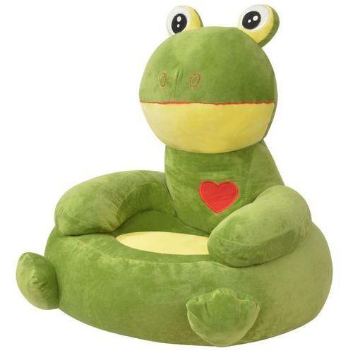 Vidaxl fotel dla dzieci żaba, pluszowy, zielony (8718475509110)