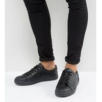 ASOS DESIGN Wide Fit Vegan Trainers In Black - Black, kolor czarny