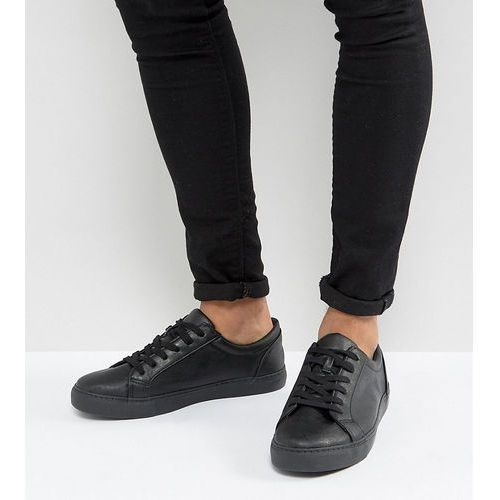 design wide fit trainers in black - black, Asos