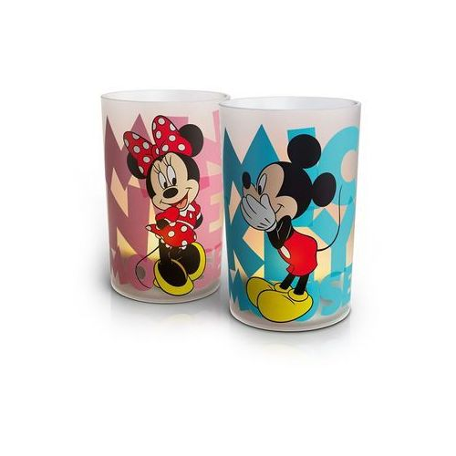 Philips 71712/55/16 - LED Lampa stołowa CANDLES MICKEY & MINNIE MOUSE (zestaw 2szt.) 1xLED/1,5W/230V (8718291489993)