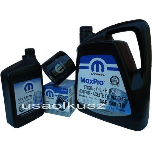 Mopar Oryginalny filtr oraz mineralny olej 5w30 dodge durango 4,7 v8 2008-