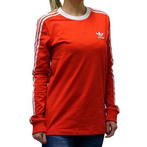 Koszulka adidas 3stripes ls tee bk5871 - odcienie czerwonego, Adidas originals