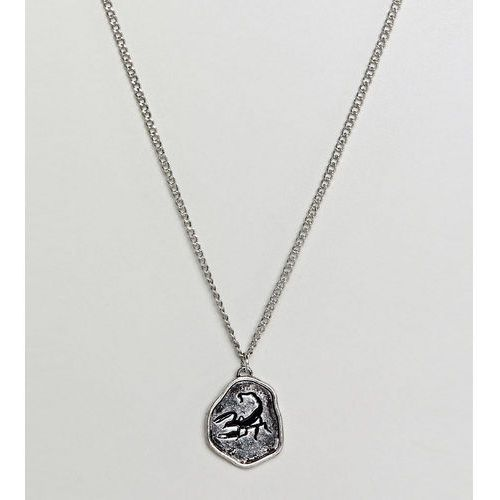 Reclaimed Vintage Inspired Scorpion Pendant Necklace In Silver Exclusive To ASOS - Silver, kolor szary