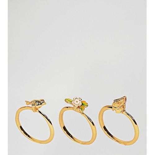 gold plated birdhouse stacking rings - gold marki Bill skinner