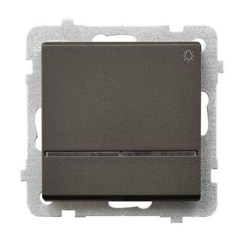 Przycisk światło Ospel Sonata ŁP-5RS/M/40 10AX z podświetleniem IP20 czekoladowy metalik (5907577448615)